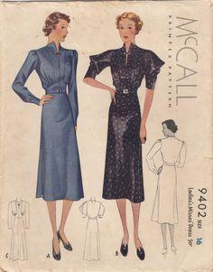 McCall 9402 | 1930s Ladies' & Misses' Dress