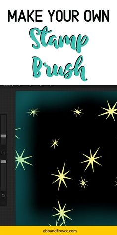 Learn how to make a stamp brush in Procreate. Stamp brushes create reusable shapes with the touch of a brush. Make Your Own Stamp, Cool Erasers, Photography Sketchbook, Digital Art Tutorial, Ipad Art, Abstract Shapes, Simple Art, Design Tutorials, Brushes