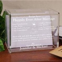 Engraved Happily Ever After...