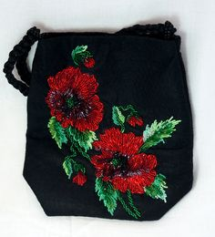 Poppies purse