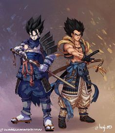 Samurai Vegito & Gogeta By warrick wong design & kenji 893 Manga Anime, Anime Naruto, Dragon Ball Z, Gogeta E Vegito, Character Art, Character Design, Akira, Image Manga, Anime Comics