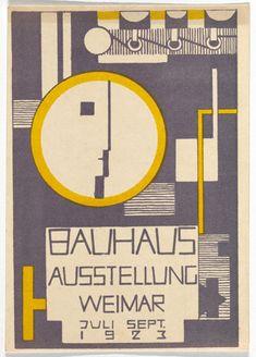 Rudolf Baschant. Bauhaus Ausstellung Weimar Juli–Sept, 1923, Karte 10. 1923. Lithograph, 5 7/8 × 3 15/16″ (15 × 10 cm). Committee on Architecture and Design Funds. Photo: John Wronn