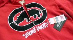 Men's MARC ECKO  Hoodie S Cotton Polyester RED  Long Sleeve NWT #MarcEcko #Hoodie