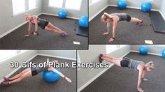 21. Plank Rainbows via GIPHY Grab a very light dumbbell; Starting in the classic side plank, extend one arm out to the side, holding the weight; Raise the weight so that it straight towards ceiling; Complete all reps on one side before switching to the next. 22. Reverse Plank via GIPHY Start by sitting on …