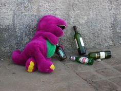 borrachos de navidad fotos | Esto es Barney, es un borracho, está borracho y tiene inclinaciones ...
