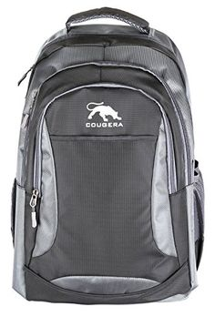 795238c943 Cougera(TM) Premium Black Equinox Backpack 17 inch Official Travel Gear