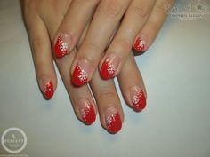 Piros köröm karácsonyra - Műköröm képek, Köröm minták, Műköröm minták Nailart, Flower Nails, Red