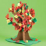Standing Fall Tissue Tree Craft Kit. Fall crafts for kids.