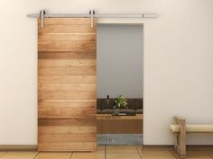 6 Foot Sliding Barn Door Hardware Kit-Satin Nickle TSQ08 | Doors & Gates | Commercial Bargains Inc.