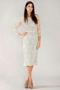 Lace dress to wear to attend a spring wedding