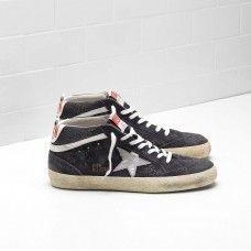 Buy MAN Golden Goose MID STAR Black Brown Sneakers G30MS634.F7 6800d4f75bd5