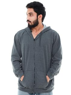 Buy EASY 2 WEAR ® Mens Jackets Hooded (Sizes to 5XL) Grey at Amazon.in