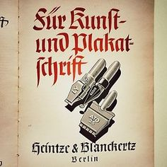 German ad for nib pens from the company Heintze & Blanckertz. 1930s. #Blackletter