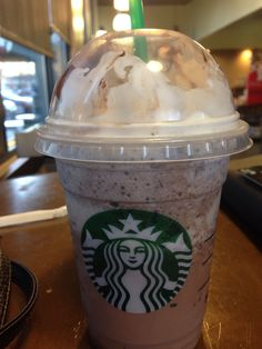 Double chocolatey chip with whip and a shot of coffe at Starbucks