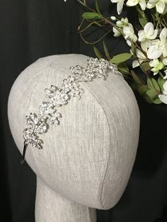 Wedding Headband Bridal Headband Crystal by LaurenLashDesignsLLC