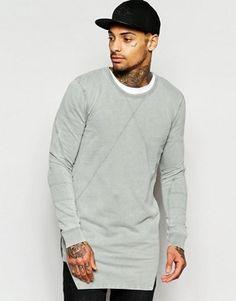 Black Kaviar Longline Sweatshirt