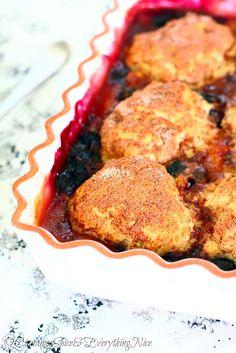 Blueberry Peach Cobblers! Perfect for a #summer #dessert