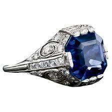 Vintage Royal Blue and Diamond ring