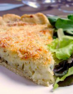 """Tarte à la morue antillaise Recette """"Une plume dans la cuisine"""" Utiliser pate à tarte sans gluten.*** très très bonne!"""