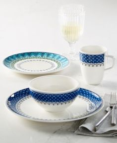 Villeroy & Boch Casale Blu Dinnerware Collection   macys.com
