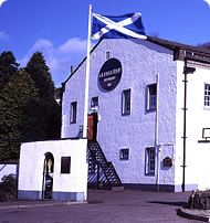 Our Scottish flag waving in the wind...