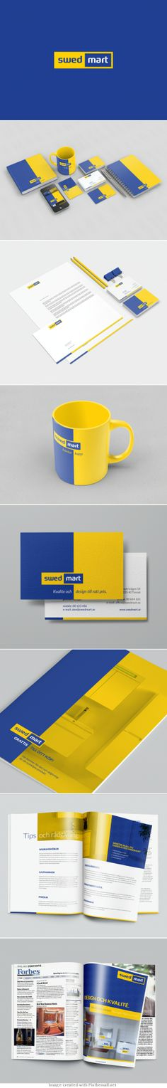 Swed Mart brand identity - created via http://pinthemall.net