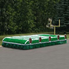 "Sports Parade Float Football Kit - Standard Your favorite sports team will love to be the ""center of the parade"" riding on one of our sports-themed parade floats. The flat design is easy to execute and there is room for the whole team. Priced for 7 ft x 16 ft trailer bed."