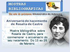 Efemérides de febreiro: Aniversario do nacemento de Rosalía de Castro.