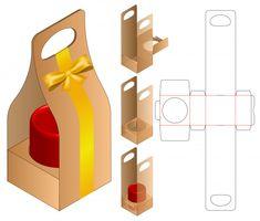 Box packaging die cut template Premium V. Diy Gift Box, Diy Box, Cardboard Box Crafts, Cardboard Playhouse, Cardboard Toys, Cardboard Furniture, Paper Box Template, Candle Packaging, Food Packaging Design