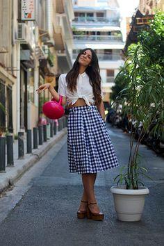 Mariloo // Karavan Clothing  blog.karavanclothing.com #karavanclothing #karavan #marilookaravan Dress Skirt, Midi Skirt, We Wear, How To Wear, Dresses With Leggings, Knitwear, Greek, Designers, Fashion Outfits