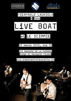 "Acoustic set sul barcone de ""Le Scimmie"", 23 Marzo 2013."