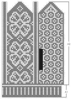 "Winter Rose Gloves - Kuviolliset DROPS käsineet ""Karisma""-langasta. - Free pattern by DROPS Design"