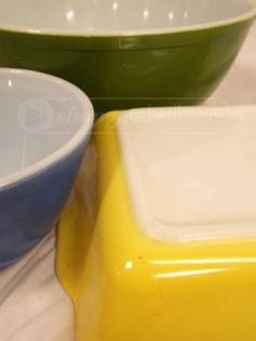 Colorful vintage pyrex at www.shopgoodwill.com