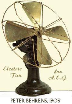 A fan that was designed by the Deutscher Werkbund for one of their exhibitions.