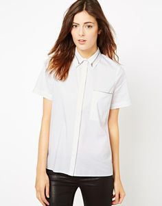 ASOS Shirt with Zip Insert Collar and Pocket