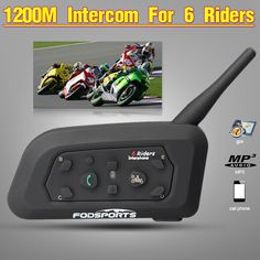 6a92db23643 Fodsports!2017 New 1 pcs V6 Pro 1200M multi BT Interphone Wireless  Motorcycle Helmet Bluetooth Headset Intercom for 6 Rider-in Helmet Headsets  from ...