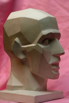 Plane head based on Houdon's L'Écorché.
