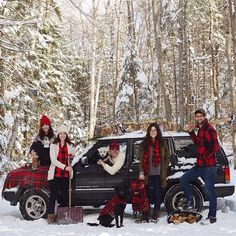 Buffalo check family Christmas - LL Bean Signature & Jackie Greaney