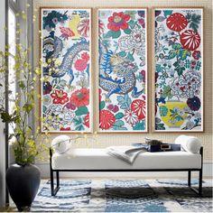 Framed Wallpaper, Chinoiserie Wallpaper, Diy Wallpaper, Wallpaper Panels, Home Interior, Interior Decorating, Nordic Interior, Interior Design, Decorating Ideas