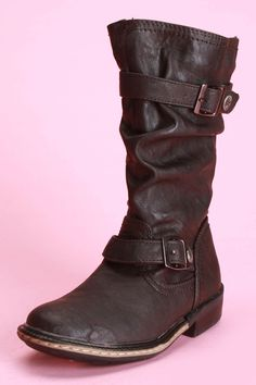 Kensie Tall Shafts Boots In Brown - Beyond the Rack