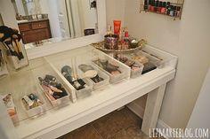 DIY Glass Top Makeup Vanity Desk