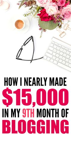 How she made $15,000 in one month from blogging is THE BEST! I'm so glad I found these AMAZING tips! Now I have a real way to make money from home and work as a stay at home wife. Definitely pinning!