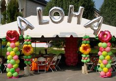 tropical party decoration ideas | | Party Decor | Gatlinburg Balloon Decor | Sevierville Balloon Decor ...