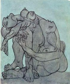 Jesus, Picasso -- no wonder you left it Untitled. That is really gross. 1936.