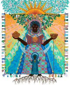 Black Madonna of Cacao Madonna Art, Madonna And Child, Kitsch, Sacred Feminine, Devine Feminine, Mama Mary, Emoji, Blessed Mother, Mother Mary