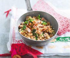 Pour un plat complet, nous vous proposons une recette de riz frit aux œufs, brocoli et porc. C'est facile à faire et c'est délicieux.