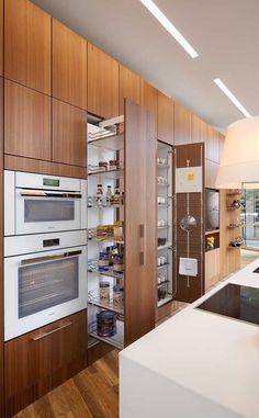 Kitchen cabinets, refacing kitchen cabinets і luxury kitchen design. Refacing Kitchen Cabinets, Modern Kitchen Cabinets, Kitchen Cabinet Design, Modern Kitchen Design, Interior Design Kitchen, Walnut Cabinets, Refinish Cabinets, Wood Cabinets, Modern Kitchen Island