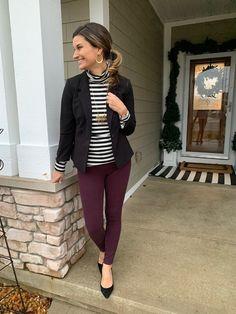 edd300e823298 blazer, burgundy pants, black white stripe shirt Maroon Shirt Outfit,  Burgundy Pants Outfit