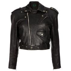 JEAN PAUL GAULTIER VINTAGE leather biker jacket ($825) ❤ liked on Polyvore