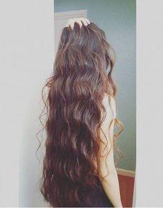 very long hair How to Protect Losing Your Luscious Locks Long Thin Hair, Really Long Hair, Long Brown Hair, Super Long Hair, Long Curly Hair, Curly Hair Styles, Natural Hair Styles, Wavy Hair, Beautiful Long Hair